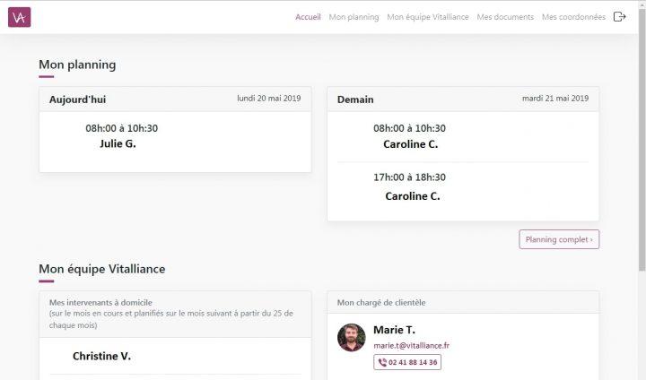 Vitalliance met en ligne son nouvel Espace Client