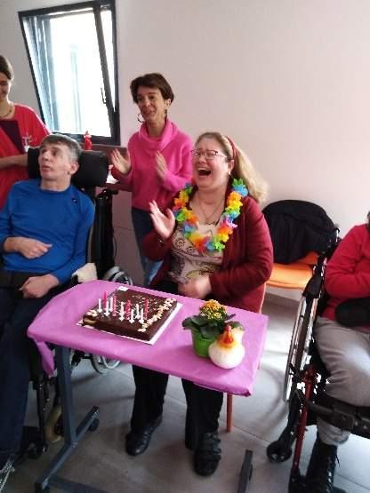 Une résidente de l'Hori'zen fête son anniversaire