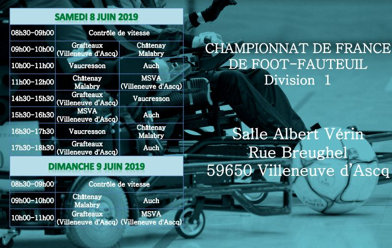 Championnat de France de Foot-Fauteuil à Villeneuve d'Ascq