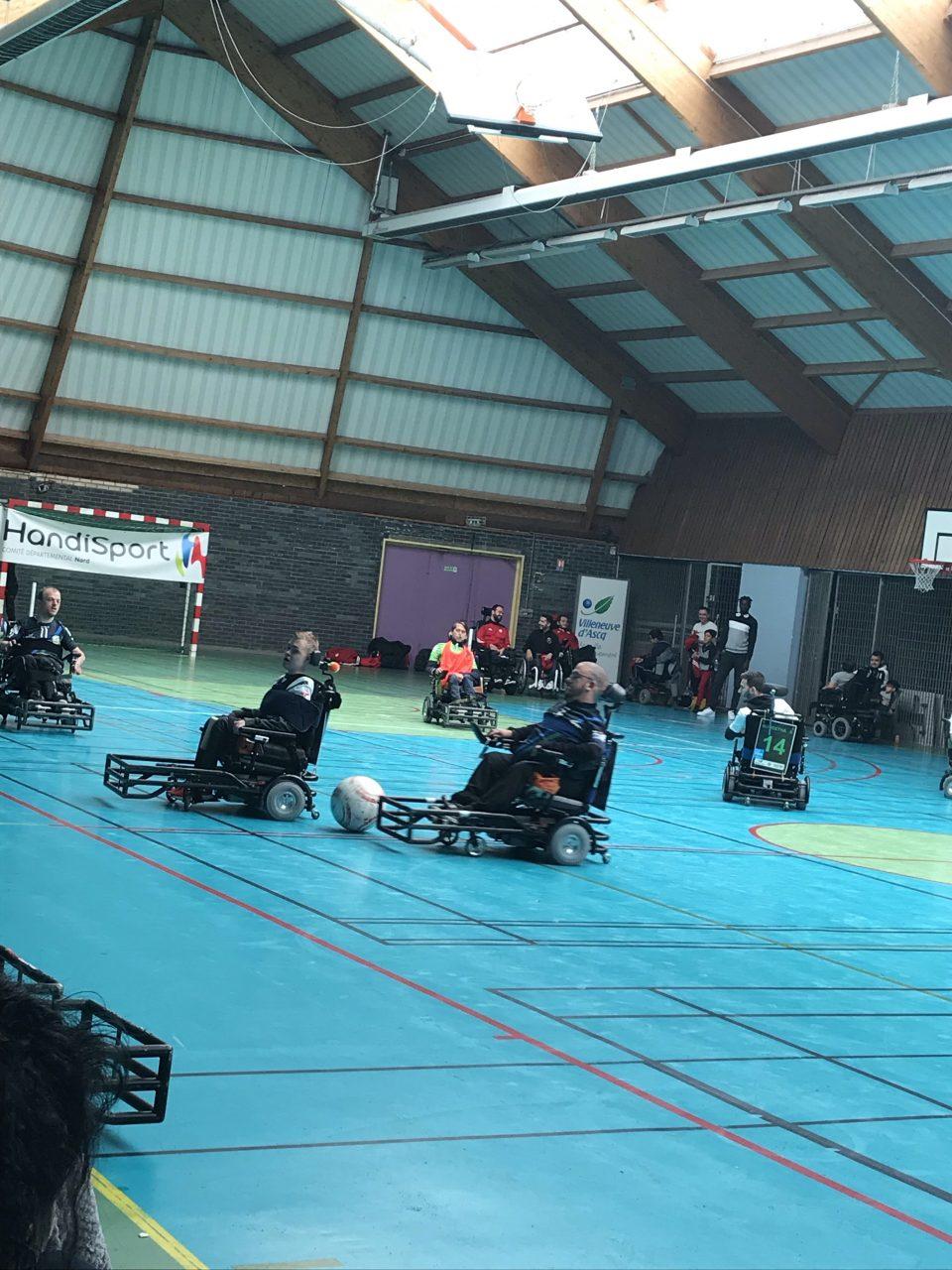 Championnat de France de Footfauteuil à Villeneuve d'ascq