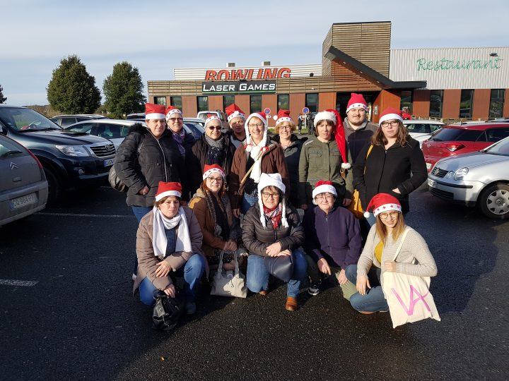 Vitalliance Paimpol : les auxiliaires de vie font un bowling de Noël