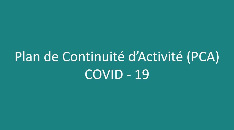 Juillet 2020 – Plan de Continuité d'Activité Vitalliance